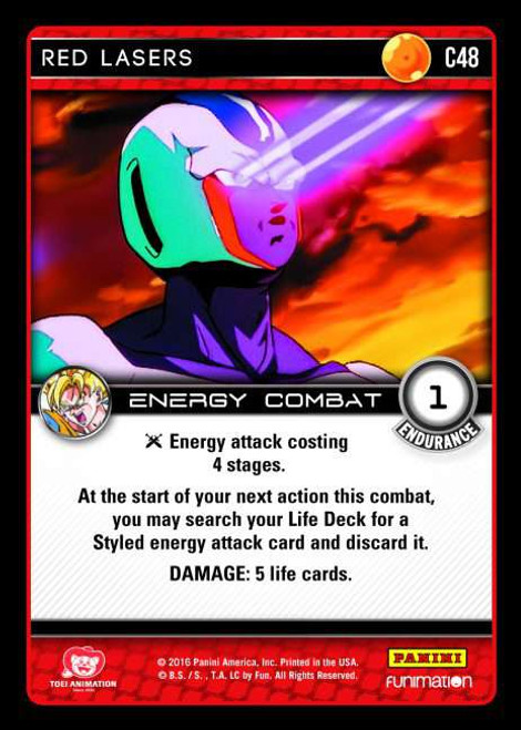 Dragon Ball Z CCG Vengeance Common Red Lasers C48