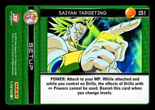 Dragon Ball Z CCG Vengeance Common Saiyan Targeting C51