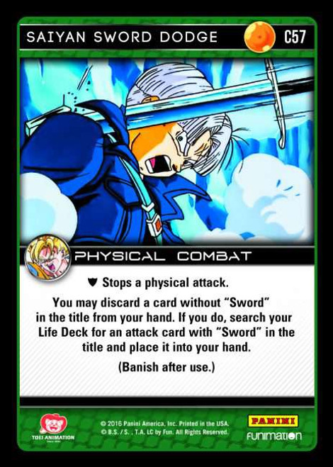 Dragon Ball Z CCG Vengeance Common Saiyan Sword Dodge C57
