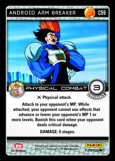 Dragon Ball Z CCG Vengeance Common Android Arm Breaker C59