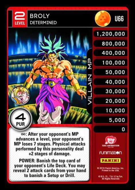 Dragon Ball Z CCG Vengeance Uncommon Broly - Determined U66