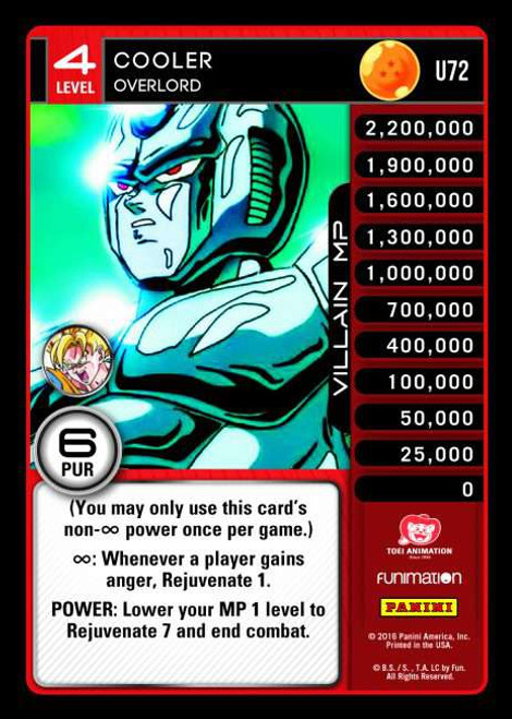 Dragon Ball Z CCG Vengeance Uncommon Cooler - Overlord U72