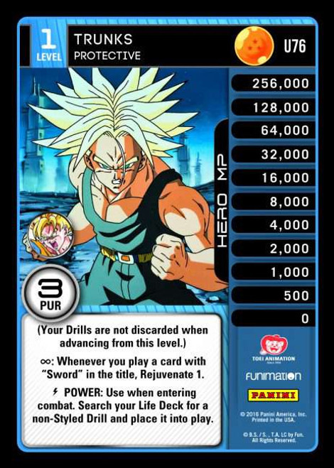 Dragon Ball Z CCG Vengeance Uncommon Trunks - Protective U76