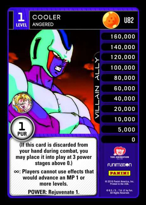 Dragon Ball Z CCG Vengeance Uncommon Cooler - Angered U82