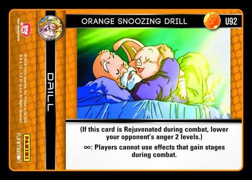Dragon Ball Z CCG Vengeance Uncommon Orange Snoozing Drill U92