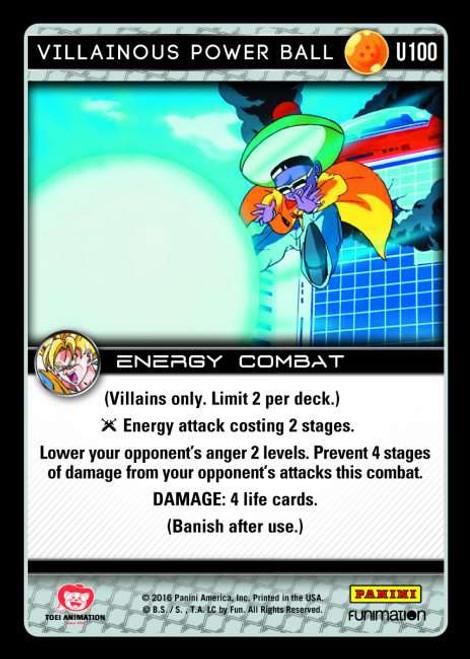 Dragon Ball Z CCG Vengeance Uncommon Villainous Power Ball U100
