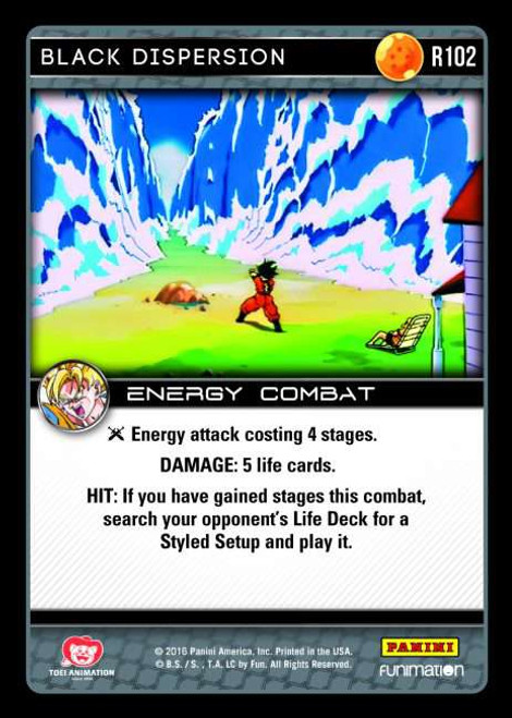 Dragon Ball Z CCG Vengeance Rare Black Dispersion R102