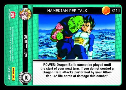 Dragon Ball Z CCG Vengeance Rare Namekian Pep Talk R110