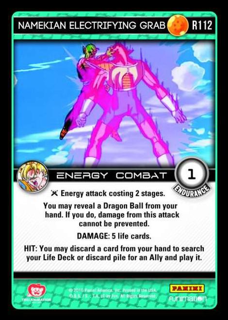Dragon Ball Z CCG Vengeance Rare Namekian Electrifying Grab R112