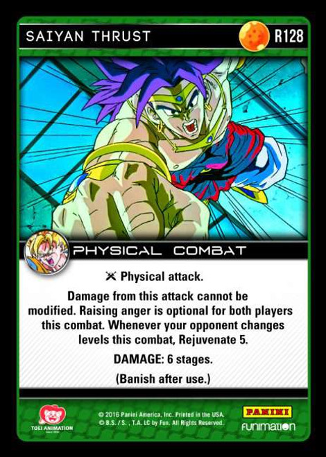 Dragon Ball Z Vengeance Rare Saiyan Thrust R128