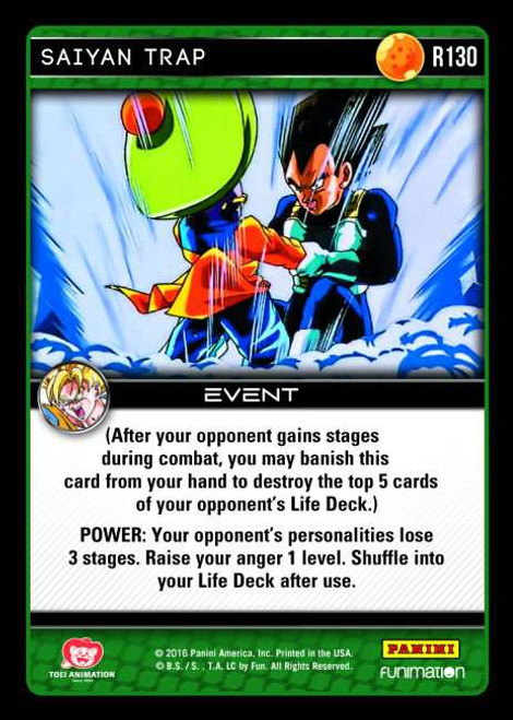 Dragon Ball Z CCG Vengeance Rare Saiyan Trap R130