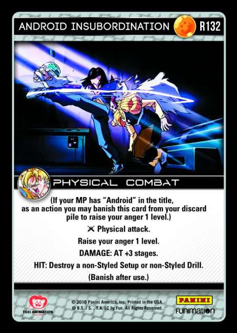 Dragon Ball Z CCG Vengeance Rare Android Insubordination R132