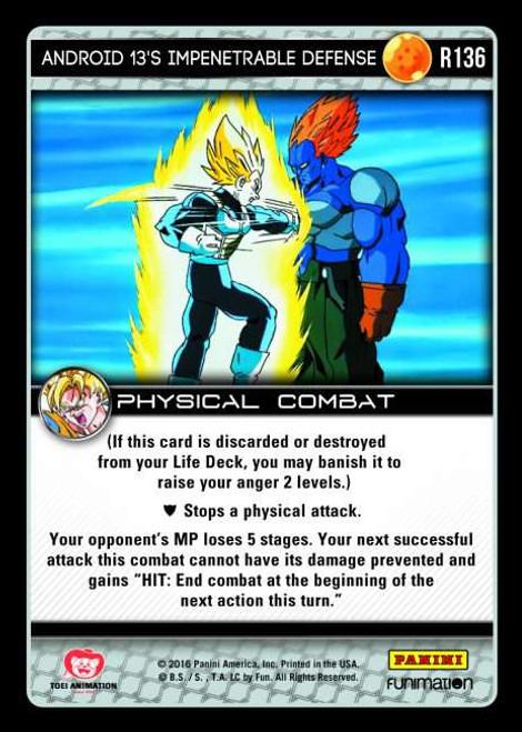 Dragon Ball Z CCG Vengeance Rare Android 13's Impenetrable Defense R136