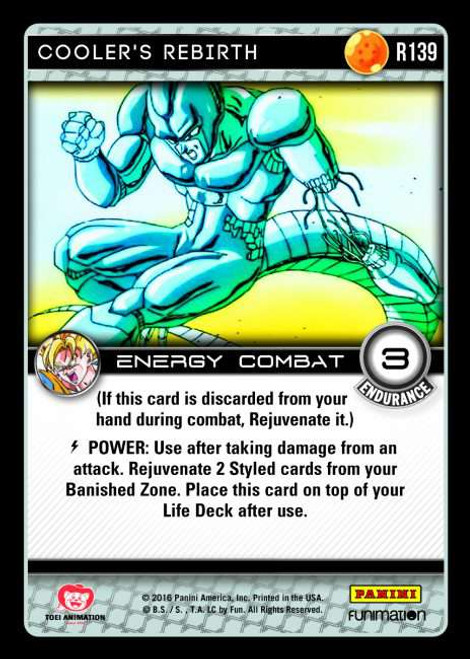 Dragon Ball Z CCG Vengeance Rare Cooler's Rebirth R139