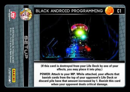 Dragon Ball Z Vengeance Common Foil Black Android Programming C1