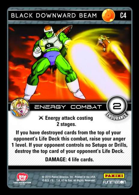 Dragon Ball Z CCG Vengeance Common Foil Black Downward Beam C4