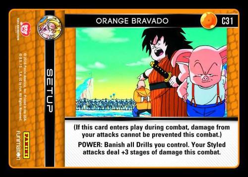 Dragon Ball Z Vengeance Common Foil Orange Bravado C31