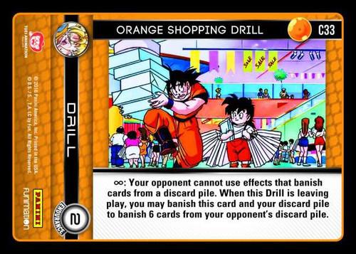 Dragon Ball Z Vengeance Common Foil Orange Shopping Drill C33
