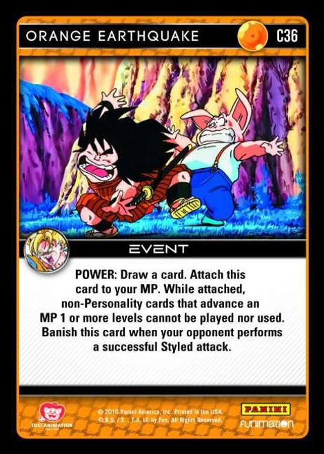 Dragon Ball Z CCG Vengeance Common Foil Orange Earthquake C36
