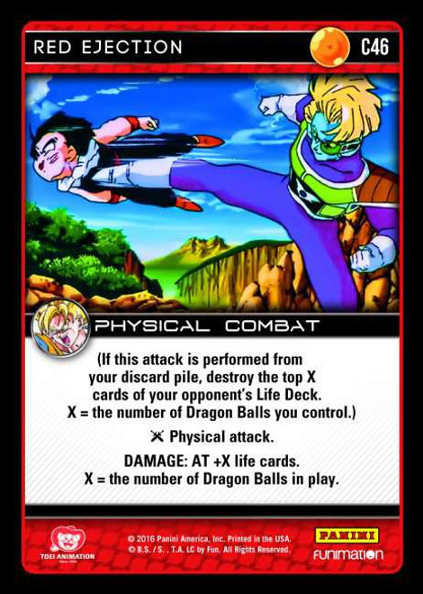 Dragon Ball Z Vengeance Common Foil Red Ejection C46