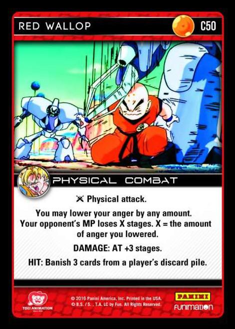 Dragon Ball Z Vengeance Common Foil Red Wallop C50