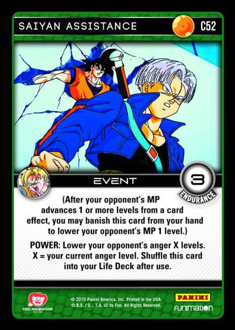 Dragon Ball Z Vengeance Common Foil Saiyan Assistance C52