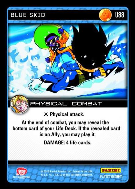 Dragon Ball Z Vengeance Uncommon Foil Blue Skid U88
