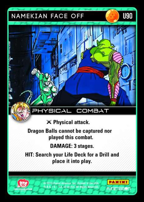 Dragon Ball Z CCG Vengeance Uncommon Foil Namekian Face Off U90