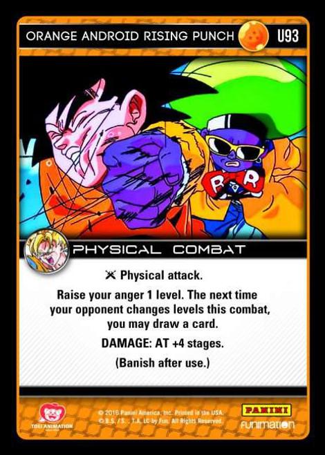 Dragon Ball Z Vengeance Uncommon Foil Orange Android Rising Punch U93