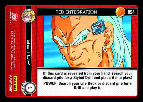 Dragon Ball Z CCG Vengeance Uncommon Foil Red Integration U94