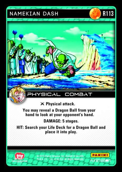 Dragon Ball Z CCG Vengeance Rare Foil Namekian Dash R113