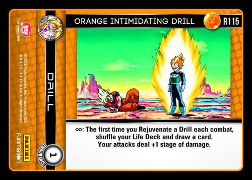 Dragon Ball Z CCG Vengeance Rare Foil Orange Intimidating Drill R115