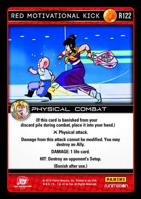 Dragon Ball Z CCG Vengeance Rare Foil Red Motivational Kick R122