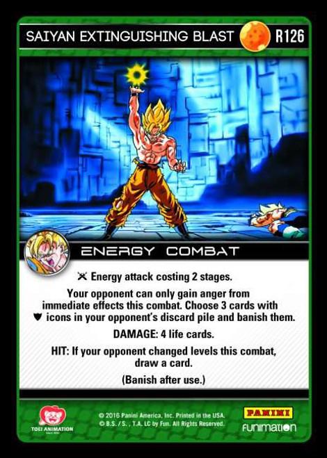 Dragon Ball Z CCG Vengeance Rare Foil Saiyan Extinguishing Blast R126