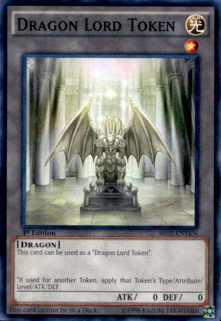 YuGiOh Rise of the True Dragons Structure Deck Common Dragon Lord Token SR02-ENTKN