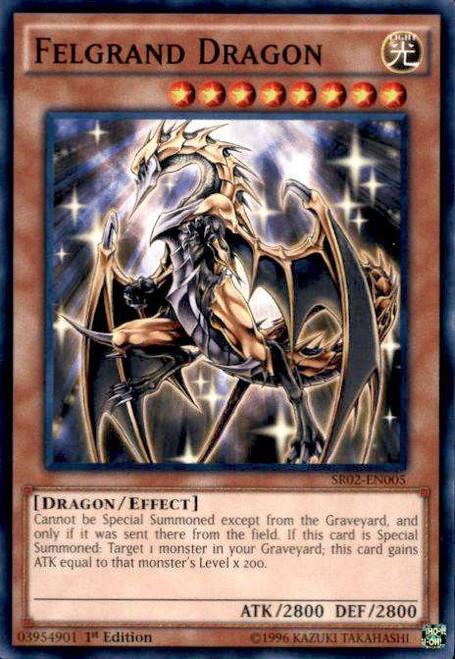 YuGiOh Rise of the True Dragons Structure Deck Common Felgrand Dragon SR02-EN005