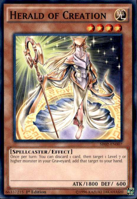 YuGiOh Rise of the True Dragons Structure Deck Common Herald of Creation SR02-EN007