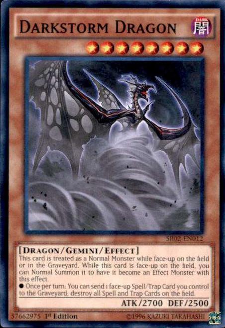 YuGiOh Rise of the True Dragons Structure Deck Common Darkstorm Dragon SR02-EN012