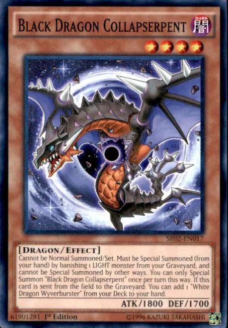YuGiOh Rise of the True Dragons Structure Deck Common Black Dragon Collapserpent SR02-EN017