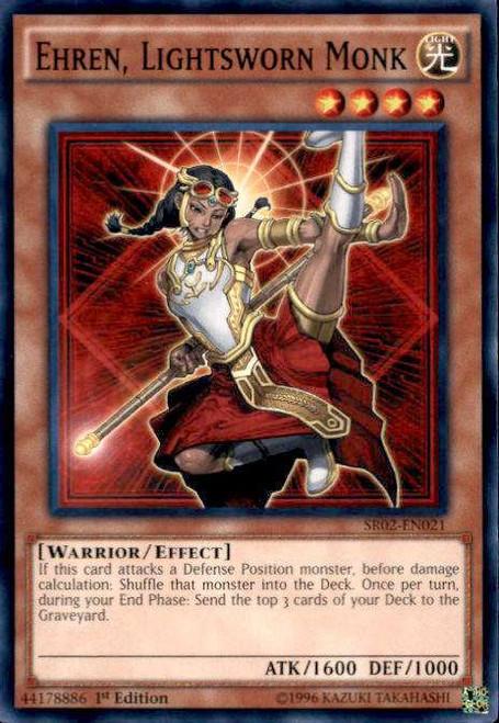 YuGiOh Rise of the True Dragons Structure Deck Common Ehren, Lightsworn Monk SR02-EN021