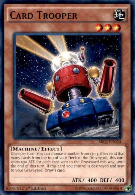 YuGiOh Rise of the True Dragons Structure Deck Common Card Trooper SR02-EN023