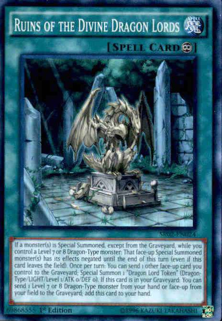 YuGiOh Rise of the True Dragons Structure Deck Super Rare Ruins of the Divine Dragon Lords SR02-EN024