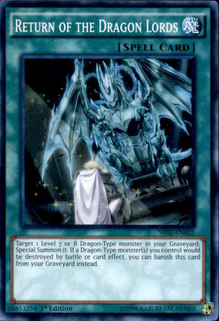 YuGiOh Rise of the True Dragons Structure Deck Super Rare Return of the Dragon Lords SR02-EN025