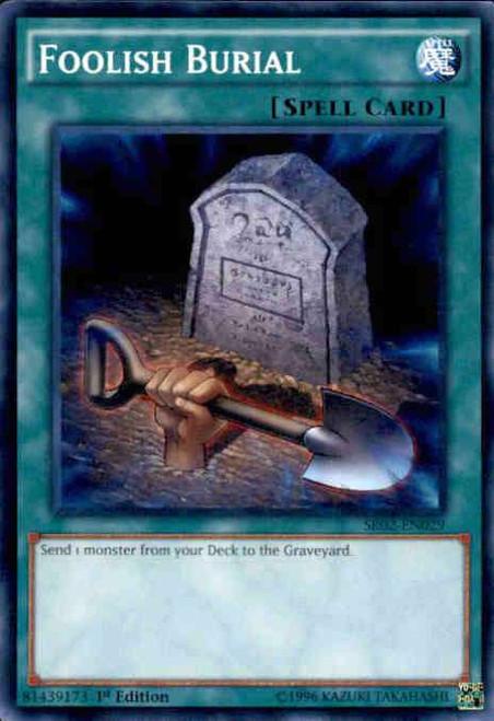 YuGiOh Rise of the True Dragons Structure Deck Common Foolish Burial SR02-EN029