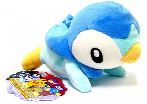 Pokemon Diamond & Pearl 5 Inch Piplup Plush [Laying Down]