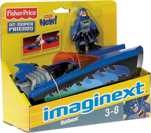 Fisher Price DC Super Friends Imaginext Batboat 3-Inch Figure Set