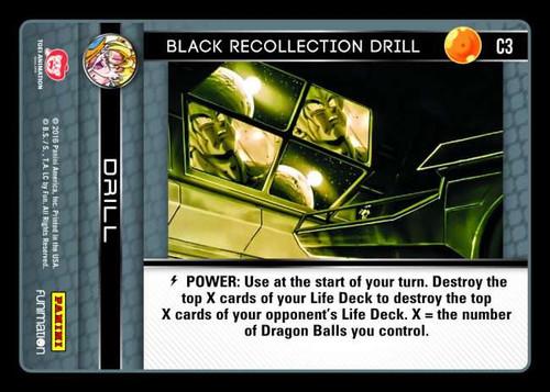 Dragon Ball Z CCG Vengeance Common Foil Black Recollection Drill C3
