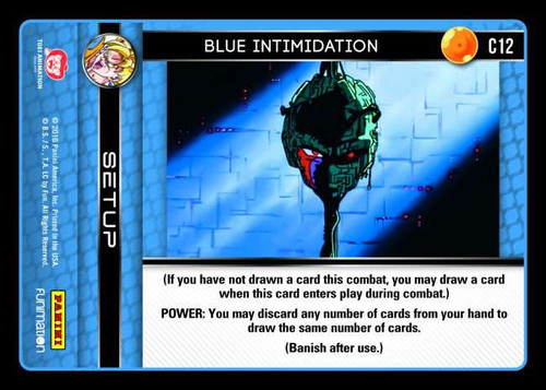 Dragon Ball Z CCG Vengeance Common Foil Blue Intimidation C12