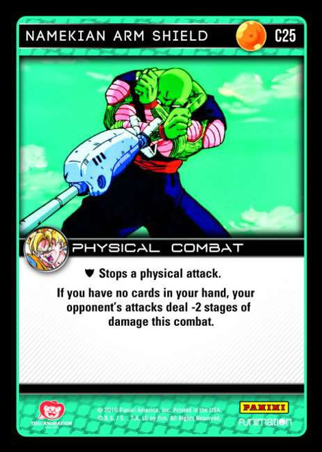 Dragon Ball Z CCG Vengeance Common Foil Namekian Arm Shield C25