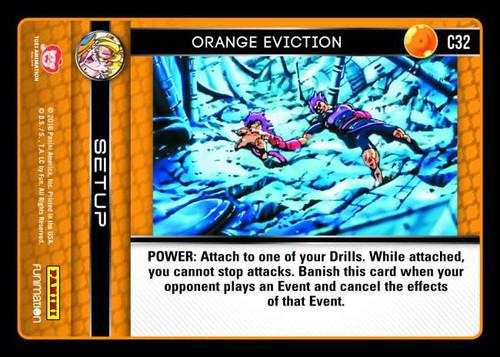 Dragon Ball Z CCG Vengeance Common Foil Orange Eviction C32